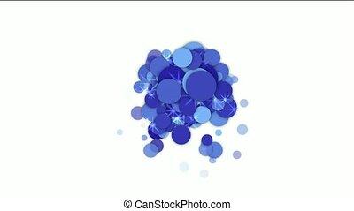 bleu, flamme, cercle, bulle