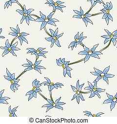 bleu fleurit, seamless