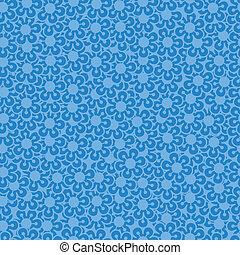 bleu, floral, arrière-plan., résumé