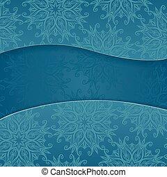 bleu, floral, fond
