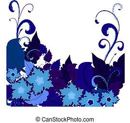 bleu, flowers2