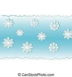bleu, fond blanc, neige