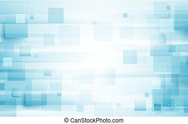 bleu, forme abstraite, fond, blanc, répéter, rectangle