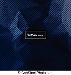 bleu, formes, résumé, fond foncé