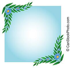 bleu, frontières, vert, gabarit