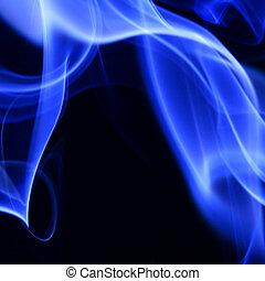 bleu, fumée