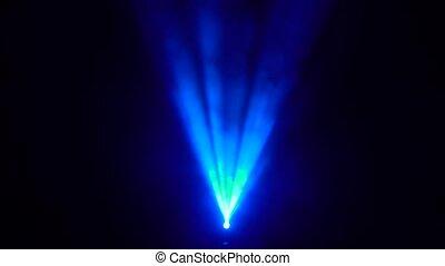 bleu, fumée, lumière, résumé, tache, arrière-plan noir