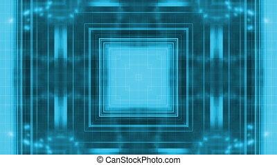 bleu, géométrique, particule, boucle, r33