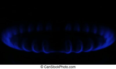 bleu, gaz naturel, flamme