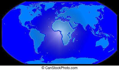 bleu, globe, terrestre