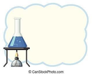 bleu, gobelet, frontière, gabarit, liquide
