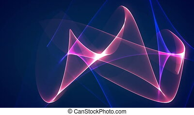 bleu, graphique, dimension, mélange