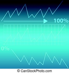 bleu, graphique, résumé, fond