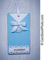 bleu, gris, enveloppe, fond, invitation