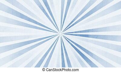 bleu, gris, faire boucle, retro, fond, blanc, animé