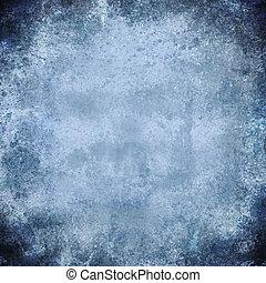 bleu, grunge, couleur, lumière, résumé, t, fond, vendange