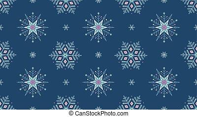 bleu, grunge, flocons neige, surgelé, seamless, arrière-plan., orné