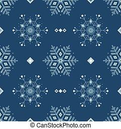 bleu, grunge, surgelé, pattern., neige, glace, seamless