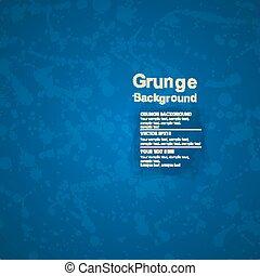 bleu, grunge, texture, vecteur, fond, encre, splatter.