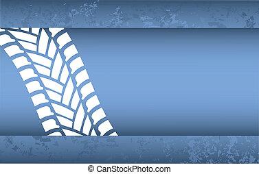 bleu, grunge, voie pneu, fond, spécial