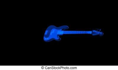 bleu, guitare