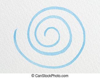 bleu, handpainted, tourbillon