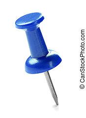 bleu, haut fin, pushpin