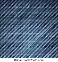 bleu, haut., jean, texture, vecteur, fin