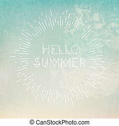 "bleu, ""hello, summer"", fond, locution, grunge"