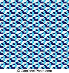 bleu, hexagonal, illustration., couleur, seamless, modèle, arrière-plan., vecteur, grille, géométrique, hexagone, texture.