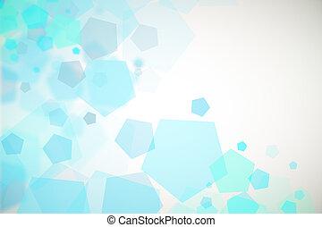bleu, hexagone, fond