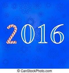 bleu, hiver, card., fond, noël, flocons neige