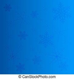 bleu, hiver, clair, vecteur, fond, flocons neige
