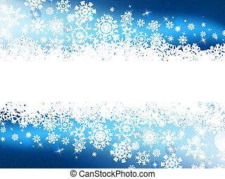 bleu, hiver, fond