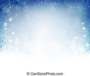 bleu, hiver, résumé, fond, noël, blanc