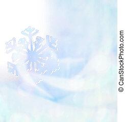 bleu, hiver, tonalité, fond, doux, Flocons neige