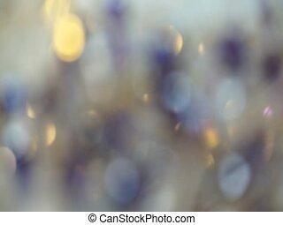 bleu, holiday's, résumé, lumières, bokeh, fond, noël