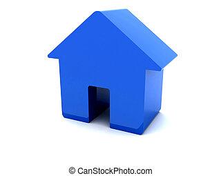 bleu, house., 3d