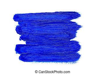 bleu, huile, coups, résumé, brosse, peinture