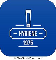bleu, hygiène, vecteur, icône