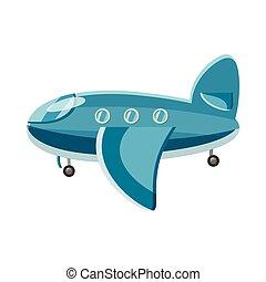 Illustration vecteur de bleu cristaux ic ne style - Dessin avion stylise ...