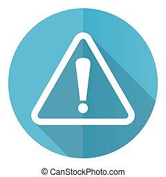 bleu, illustration, avertissement, icône, eps, conception, danger, plat, 10, prudence, vecteur