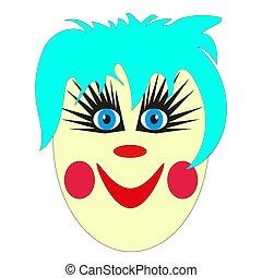 Marionnettes Théâtre Clown Main Vecteur Illustration