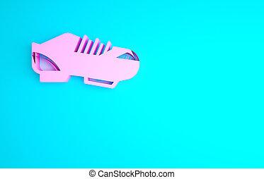 bleu, illustration, isolé, shoes., chaussures, chaussures, concept., rose, arrière-plan., sport, icône, minimalisme, render, vélo, 3d, triathlon, cyclisme