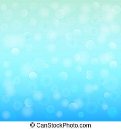 bleu, illustration., lumière, résumé, arrière-plan., bokeh, vecteur