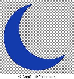 bleu, illustration., lune, arrière-plan., signe, transparent, icône