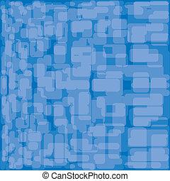 bleu, illustration., résumé, arrière-plan., vecteur, set.
