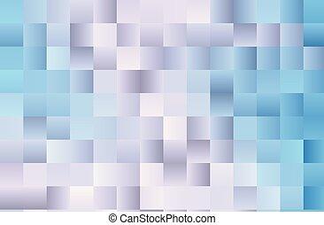 bleu, illustration., simple, lumière, shapes., gradient, squares., vecteur, fond, géométrique