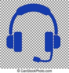 bleu, illustration., soutien, signe, arrière-plan., transparent, icône