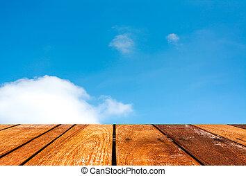 bleu, image, ciel, fond, nuage blanc